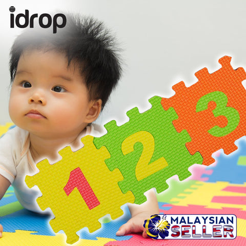 idrop Colorful Foam Number Color Mat with Random Colors For Children Education