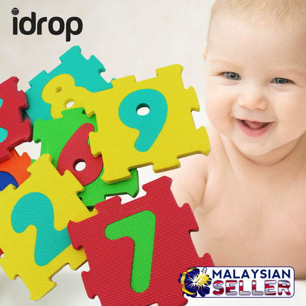idrop Number and Alphabet Eva Foam Puzzle Color Mat Baby / Child Learn and Play