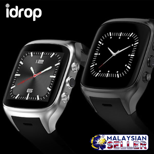idrop X02 Touch Screen Smart Watch Android 5.1 OS with Camera / Wireless Bluetooth / SIM Card / Heart Rate Monitor / GPS Navigation