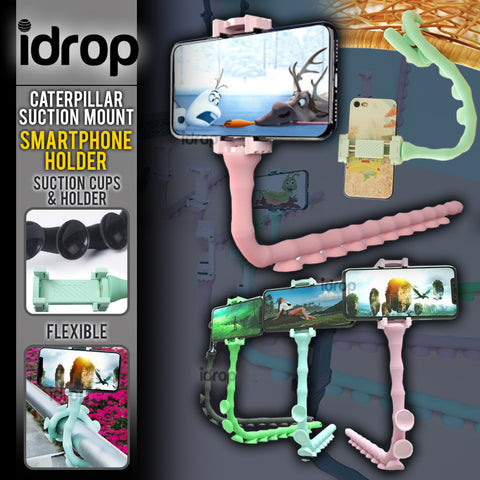 idrop Caterpillar Worm Smartphone Holder - Flexible Suction Wall Mount Holder