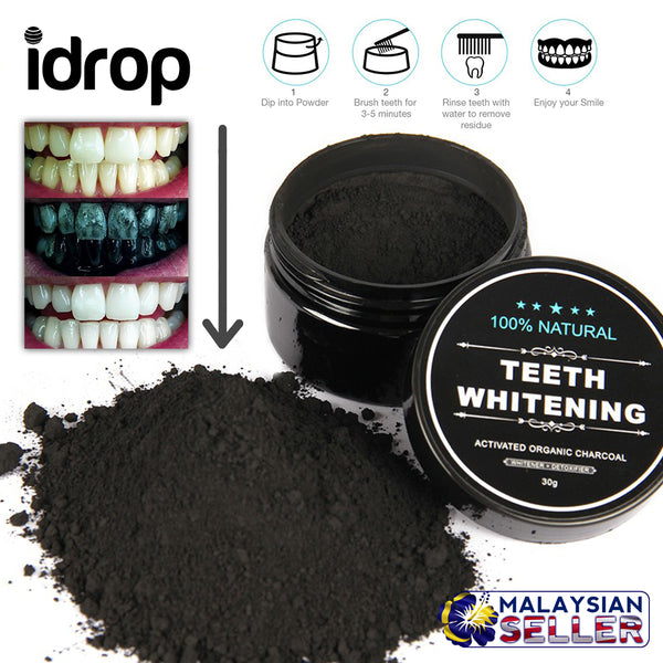 idrop 100% Teeth Whitening Activated Organic Charcoal Tooth Scrub [ SET OF 2 ]