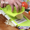 idrop Multifunction Grater / Slicer / Shredder / Chopping Board - With Container and All-in-1 Hand Grater