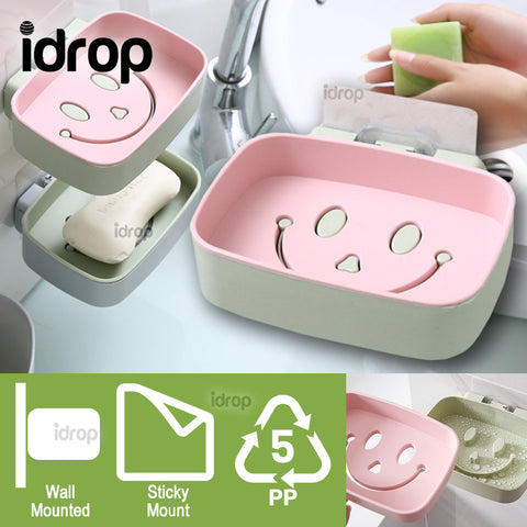 idrop Wall Mounted Smiling Soap Accessory Holder