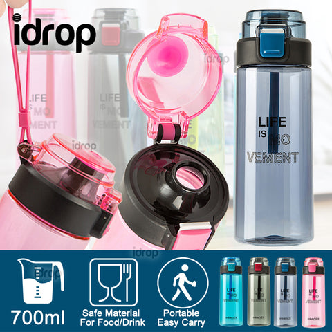 idrop 700ml Portable Flip Lid Sports Drinking Bottle