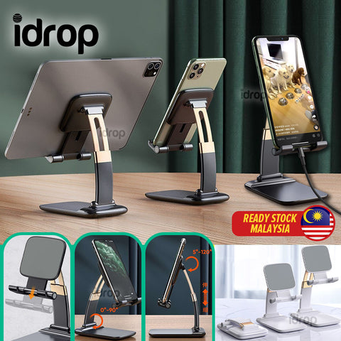 idrop Foldable Portable Smartphone & Tablet Desk Phone Stand Holder with Adjustable Angle