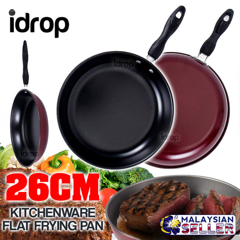 idrop 26CM Kitchen Cooking Flat Frying Pan