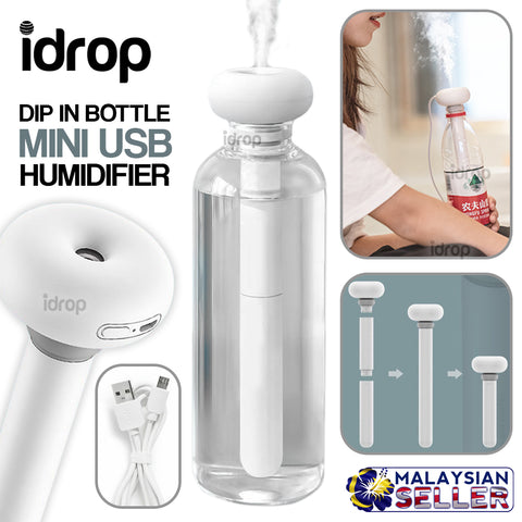idrop Portable Mini USB Bottle Dip Humidifier