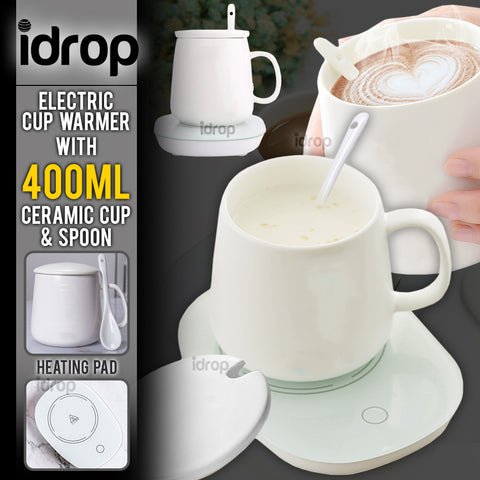 idrop Electric Induction Cup Warmer ( with Ceramic Cup and Spoon )