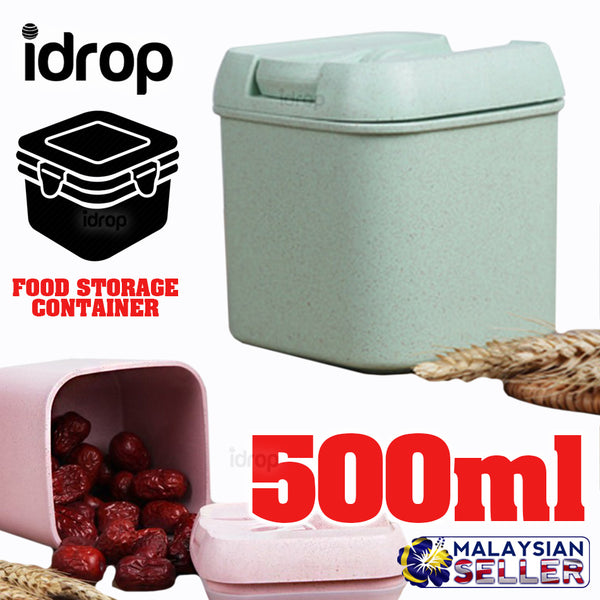 idrop 500ml CUBE CONTAINER - Tight Seal Food Storage