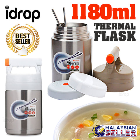 idrop 1180ml Vacuum Thermos Insulation Food Flask Container