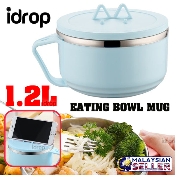 idrop 1.2L Eating Bowl Mug with Smartphone Stand