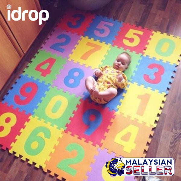 idrop Number EVA Foam Puzzle Color Mat with Random Colorful Colors For Baby / Children
