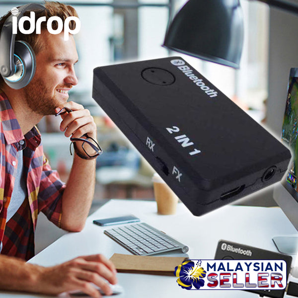 idrop 2 in 1 Bluetooth Transmitter & Receiver - JM-10 / K40BT