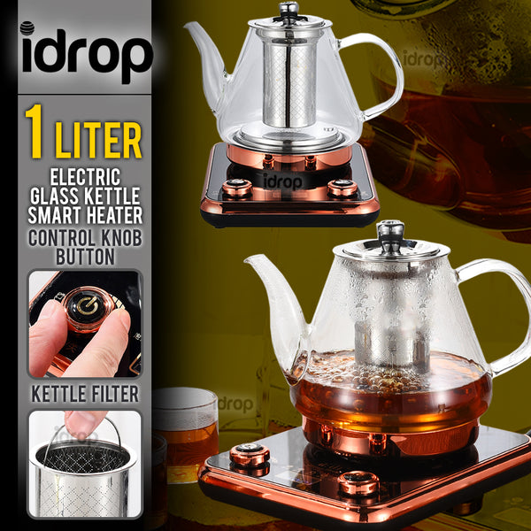 idrop 1L Electric Glass Kettle Tea Pot Smart Heater