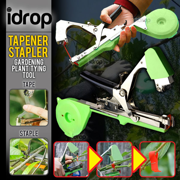 idrop 2 IN 1 Gardening Plant Branch Handheld Tapener & Stapler Clipper Device