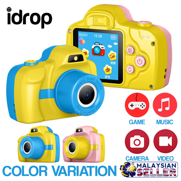 idrop portable Mini Camera Video Camcorder for Children [ Support 32GB Memory Card ]