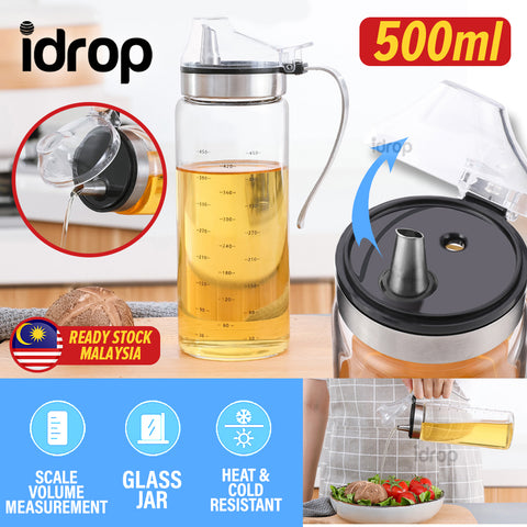 idrop 500ml Sauce & Seasoning Glass Kitchen Jar Container