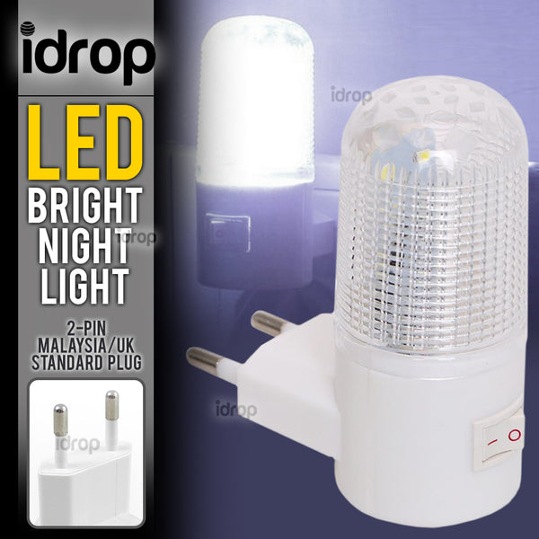 idrop LED Night Light Bedroom Plug Wall Light