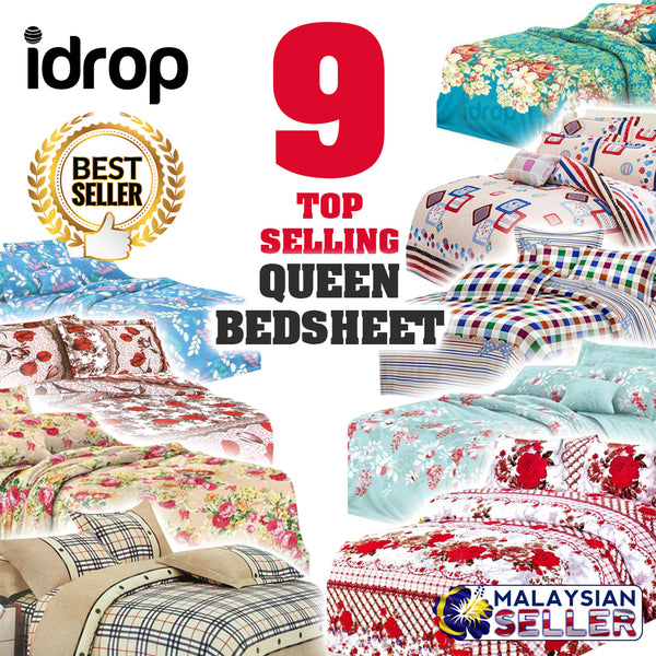 idrop TOP SELLING [ QUEEN SIZE ] Hotel Standard - Fitted 550 Thread Count Bedsheet