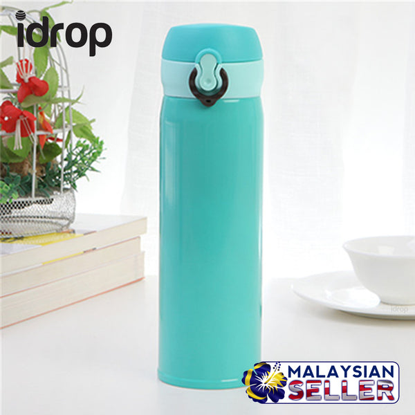idrop Tight Vacuum Seal Flip Cap Water thermos bottle [ 500 ml ] [RANDOM COLOR GIVEN]