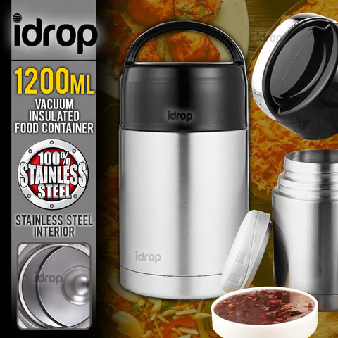 idrop 1200ml Stainless Steel Vacuum Food Pot Container