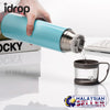 idrop Thermos Water Bottle with Cup Bottle Cap [ 500ml ] [RANDOM COLOR GIVEN]