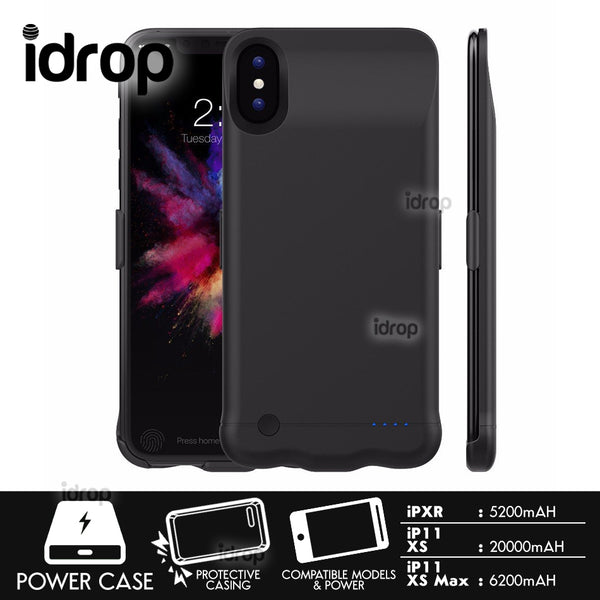 idrop Smartphone Powercase Powerbank Protective Battery Charger Casing compatible for [ iP XR / iP XS / iP XS Max /
