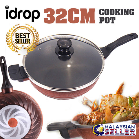 idrop 32CM SHACHU Spiral Kitchen Cooking Frying Pot