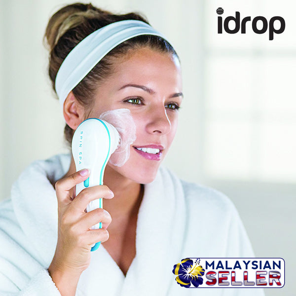 idrop Spin Spa Cleansing Facial Brush for Face Cleaning and Care