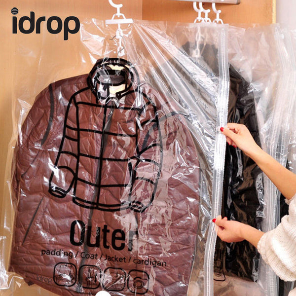 idrop Hanging Style Vacuum Bag for clothing | Buy 1 piece | Buy 3 Pieces