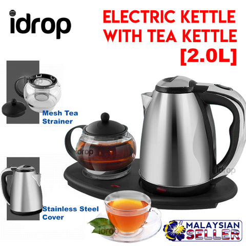 Idrop JL2000 1800w  Stainless Steel Electric Kettle with Tea Kettle [2.0L]