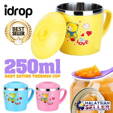 idrop 250ml Baby Thermos Flask Eating Cup Mug