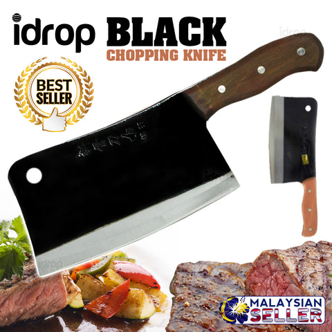 idrop PREMIUM BLACK BLADE Kitchen Chopping Knife