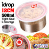 idrop 12cm Stainless Steel Kitchen Tight Seal Food Storage Container