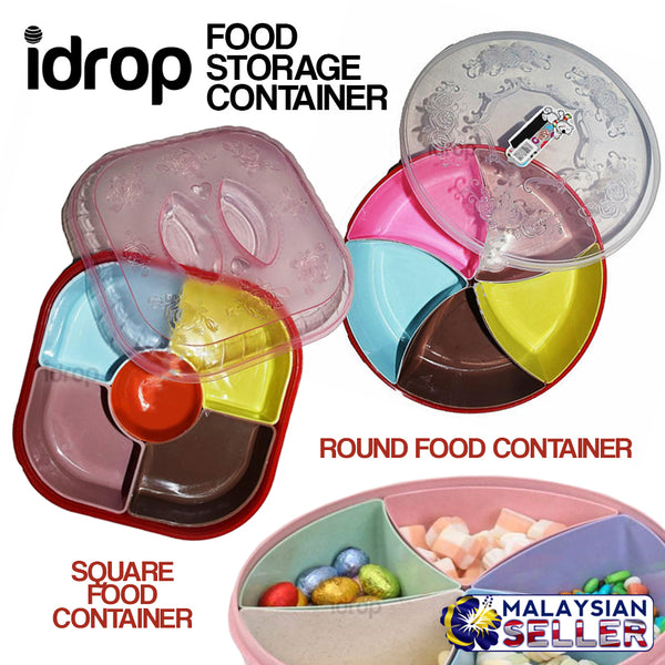 idrop Food Storage Assorted Container Box [ Round Square ]