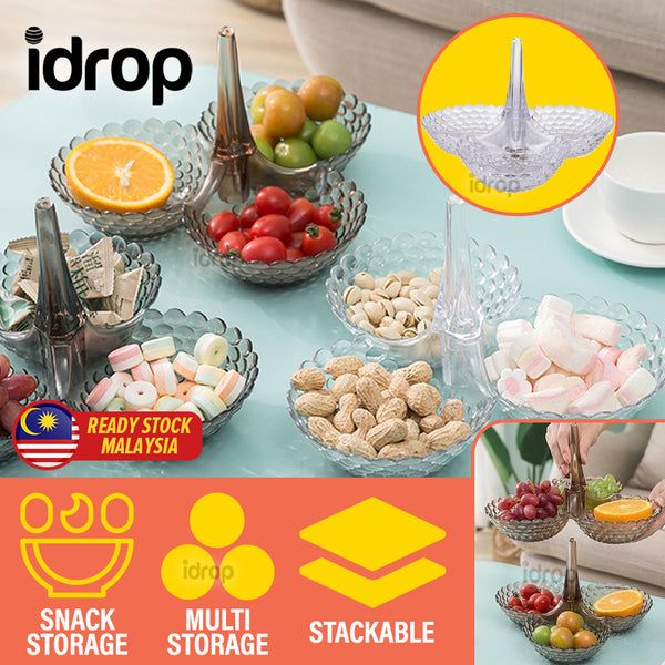 idrop Stackable Multilayer Snack Fruit Food Tray [ 1pc ]