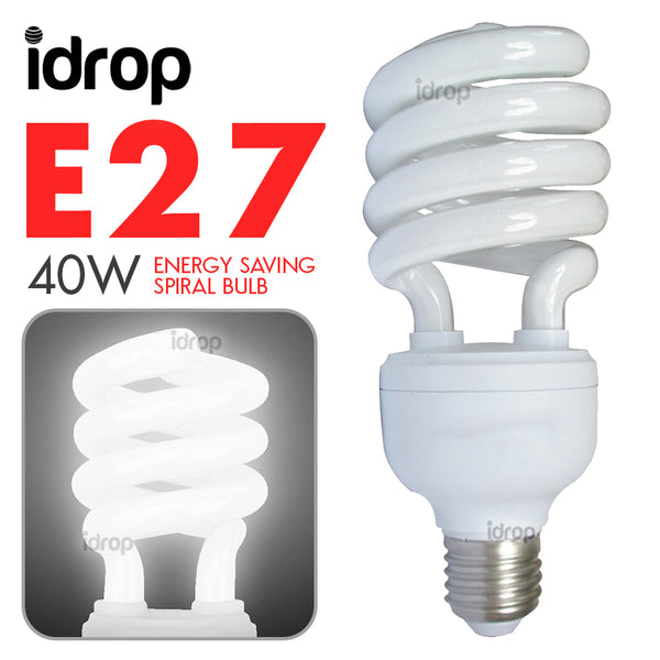 idrop 40W E27 Household Energy Saving Spiral Day Lamp Light
