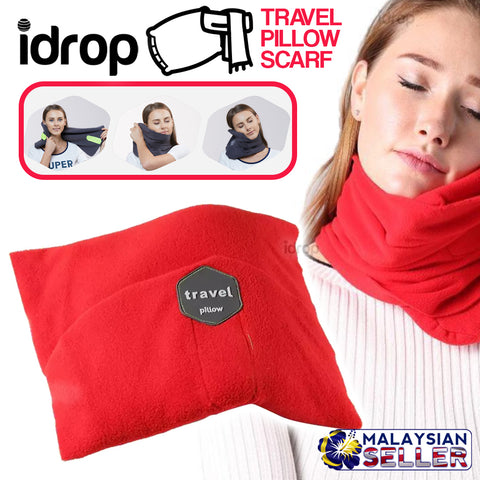idrop Travel Pillow Neck Wrap Scarf with Neck Support