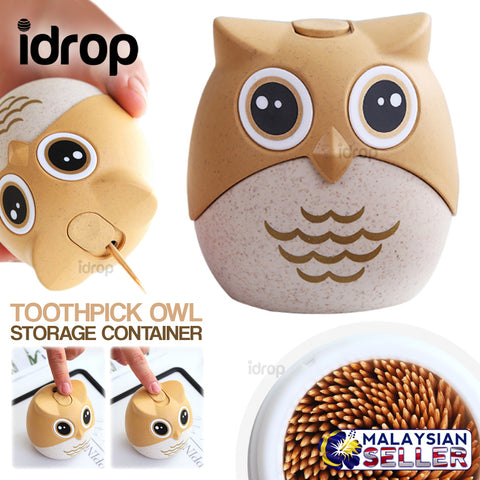 idrop TOOTHPICK OWL - Mini Toothpick Storage Container
