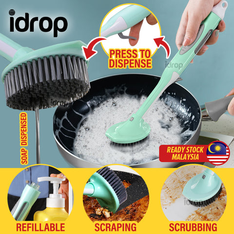 idrop Scrubbing & Scraping Cleaning Washing Refillable Brush Soap Dispenser