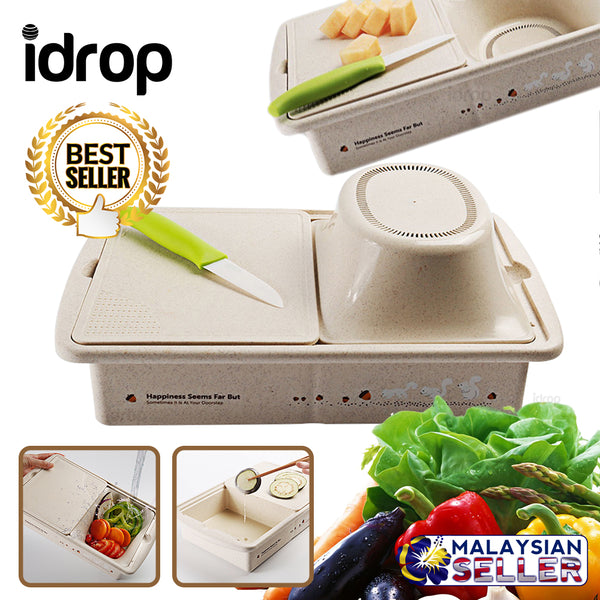 idrop MULTIFUNCTION Kitchen Food Container / Chopping Board / Drainer