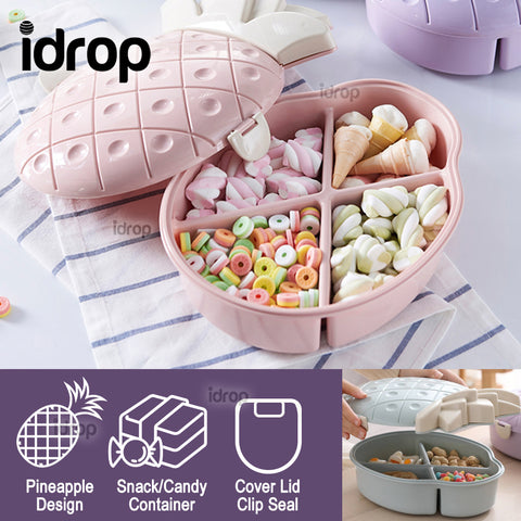 idrop Sweet Candy Pineapple Shape Food Storage Container Box