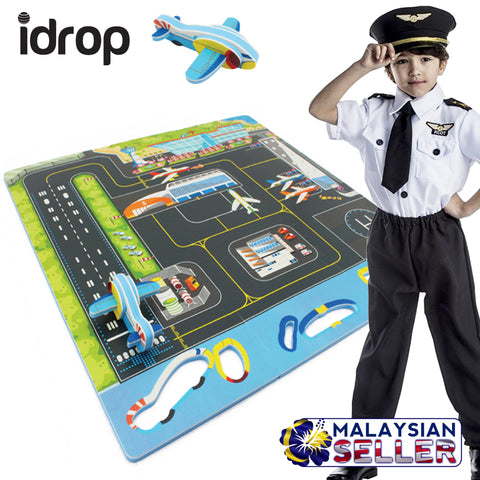 idrop Airport with DIY Aeroplane Puzzle Mat Foam for Babies Kids Children