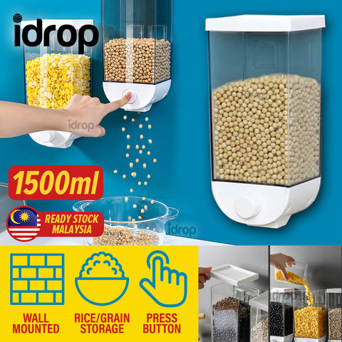 idrop 1500ml Wall Mounted Storage Grain Food tank