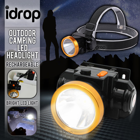 idrop LED Headlight Outdoor Camping Light / Lampu Kembara Kepala