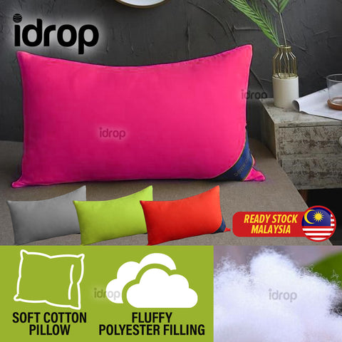 idrop 100% Cotton & Polyester Fibre Soft Hotel Grade Standard Quality Sleeping Pillow