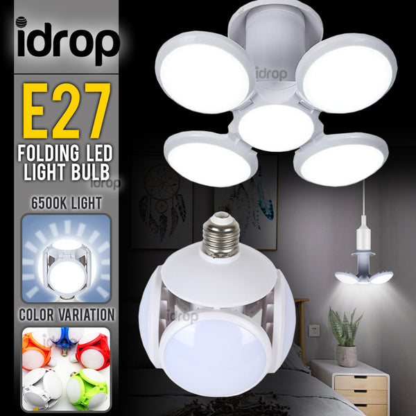 idrop E27 6500K 40W Folding Bright LED Light Football UFO Lightbulb
