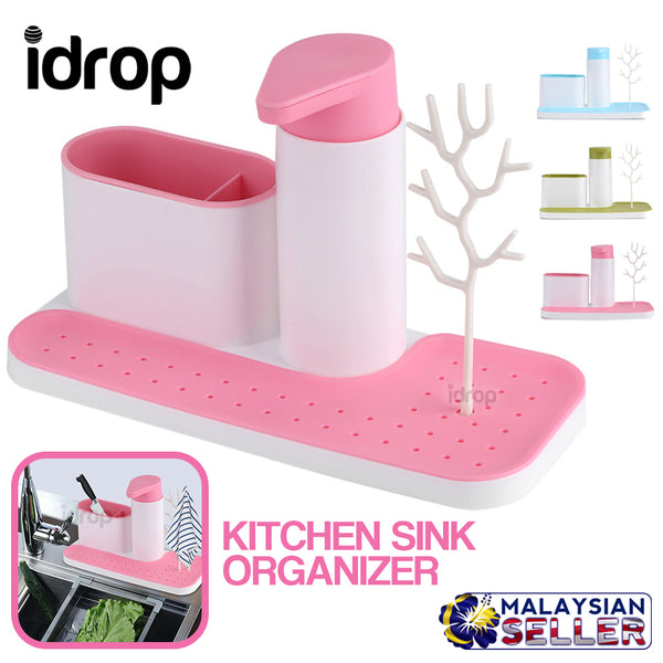 idrop Kitchen Sink Storage Rack Organizer