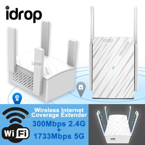 idrop TP-LINK AC2100 Wifi Wireless Coverage Extender 4 Antenna ( 2Ghz & 5Ghz )