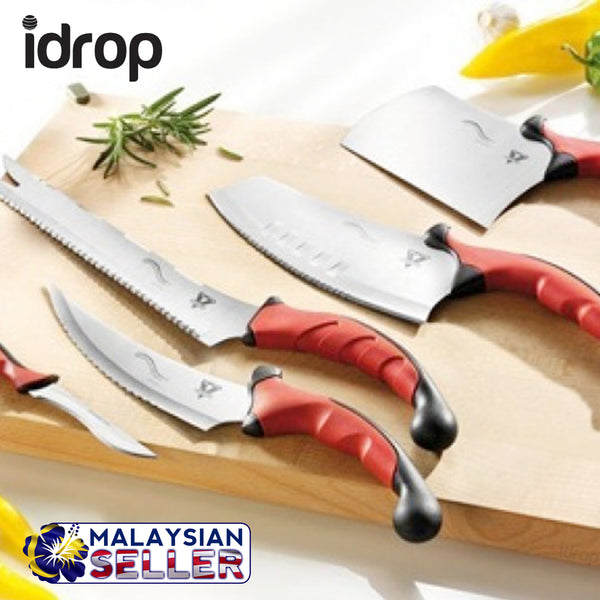 idrop Pro Contour Knives | 10 Piece kitchen set | Chop, Slice, Cut with ease